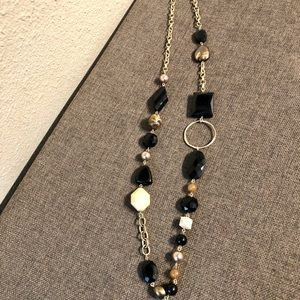 "NY&Co 18"" Black & Brown Beaded Necklace"